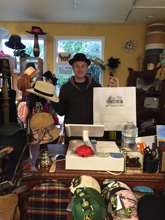 The Hat Shop Carmel: With Angelo's keen eye, instead of window shopping, we ended buying two hats - will be back for