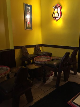 Queen of Sheba: Seating area
