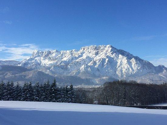 Puch, Austria: Untersberg im Winter