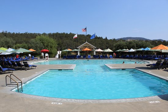 Geyserville, CA: Poolside. Be sure to check it out if you have more than a few hours to spend here.