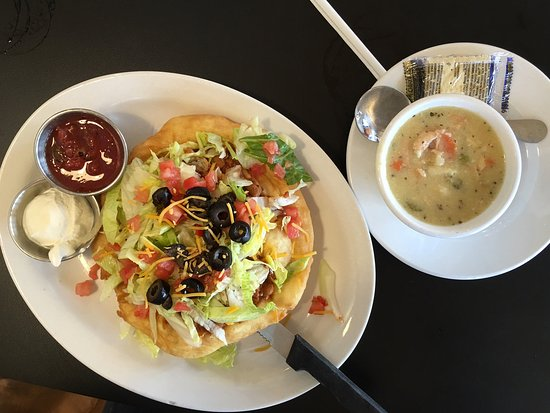 Bluff, UT: Baby Navajo Taco and Chicken Noodle Soup - DELICIOUS!