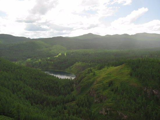 Ulagan, Nga: Озеро, вид с 1 остановки