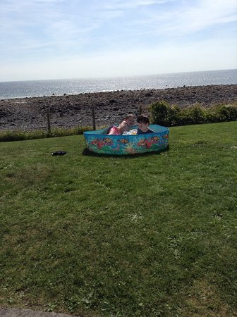 Port William, UK: My kids having a whale of a the