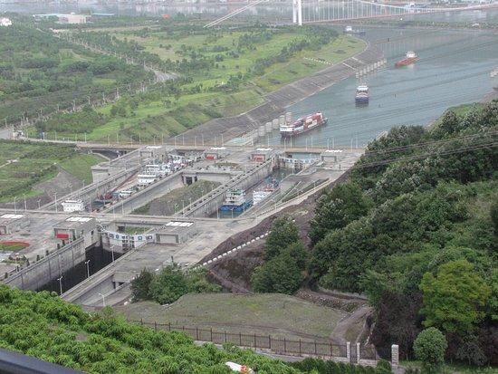 Yichang, Chiny: Vue du centre d'observation