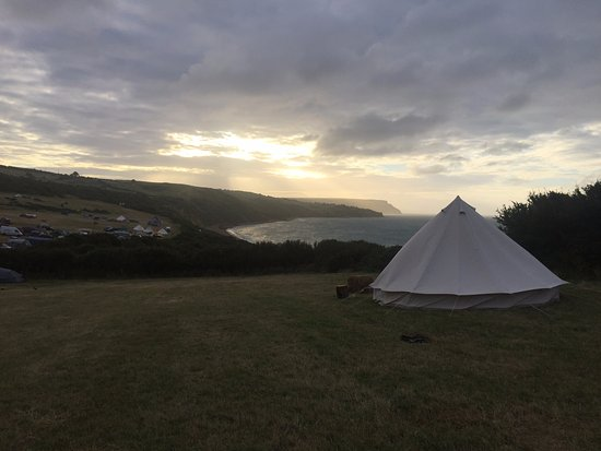 Osmington Mills, UK: View to the sea