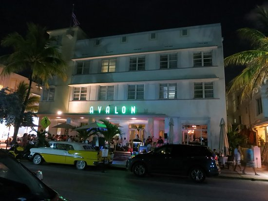 Avalon Hotel Late Night At Miami South Beach