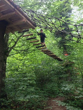 Parc Aventura Brasov : purple line for 3-7 years old