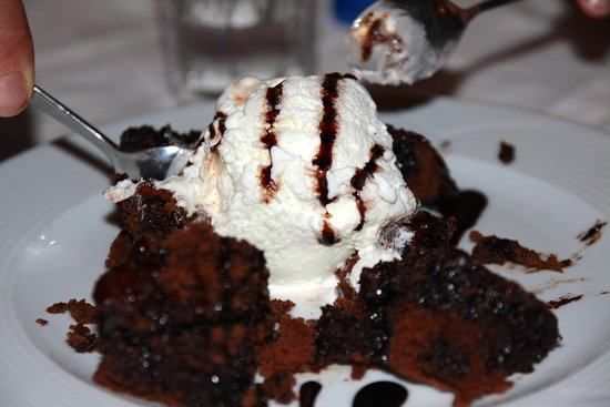 Kefalas, Grecja: Petit dessert offert, pour finir sur une belle fraicheur.