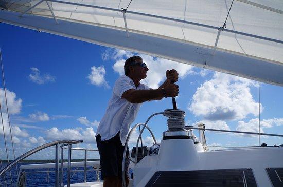 Bayahibe, Dominikanische Republik: Le capitaine en pleine action
