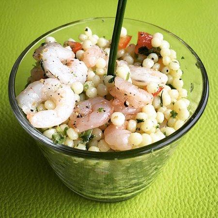 Anderlecht, เบลเยียม: Taboulé de crevettes (Lunch)