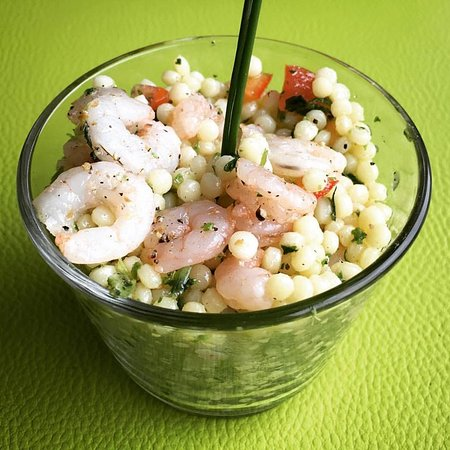 Anderlecht, Bélgica: Taboulé de crevettes (Lunch)