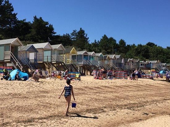 Wells Next The Sea Beach: Beach huts and wonderful sand