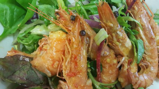 Brighton and Hove, UK: King prawns