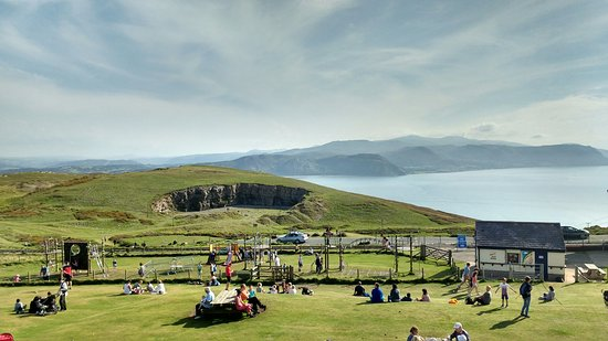 View from the Snowdonia Terrace at Great Orme's summit complex