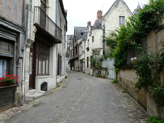Typical street in Chinon