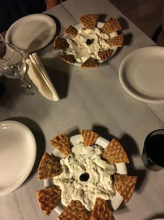 Villa Apollon Skiathos: The tzatziki and feta dips, which are delicious!