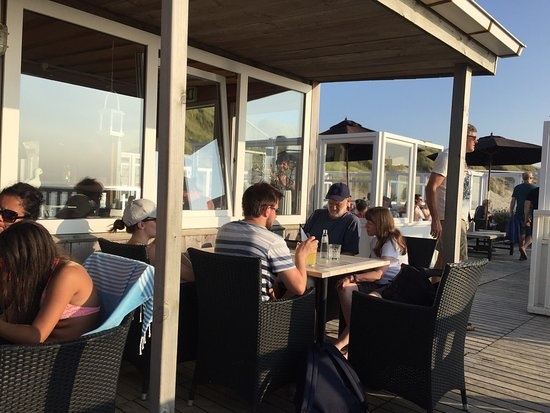 De Koog, The Netherlands: Mid summer evening dinner