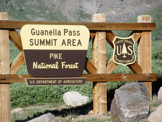 Georgetown, CO: Guanella Pass sign