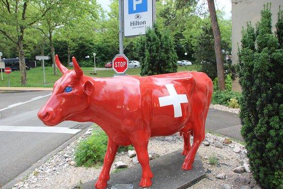Opfikon, Swiss: Hilton Zurich Parking Lot