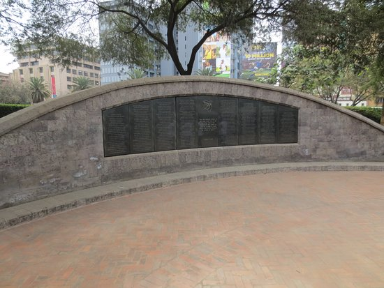 American Embassy Memorial Garden : The memorial, with the nams of those killed