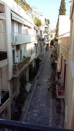 Hotel Acropolis House: Vue du balcon