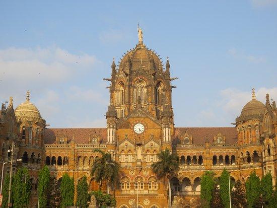 Chhatrapati Shivaji Terminus: View of the beautiful Victorian station