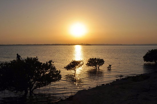 Al Khor, Catar: Por do sol lindíssimo