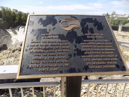 Grand Falls, Canada : Info at the top