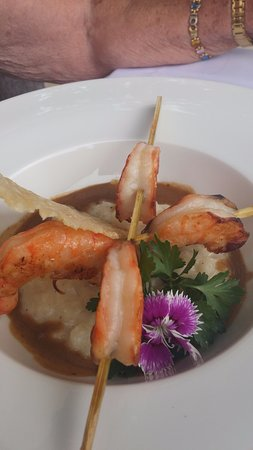 Brunet, France: gamba met risotto