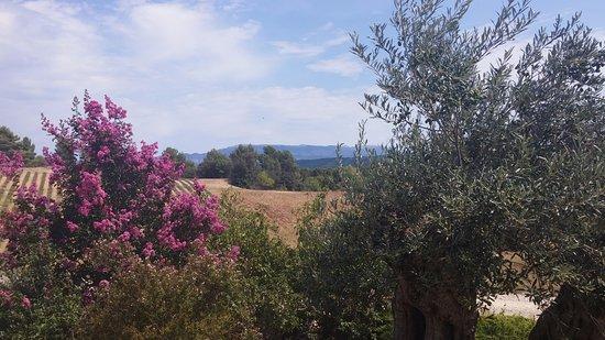 Brunet, Γαλλία: zicht vanop het terras