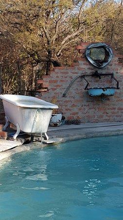 Rundu, Namibia: well kept pool area