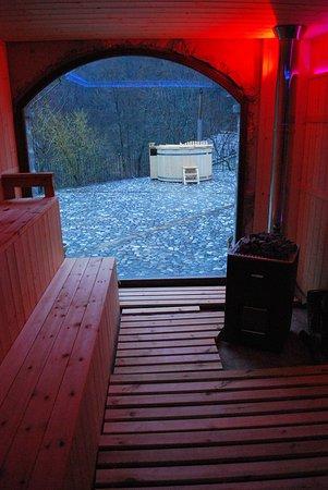 Marradi, Italia: Sauna con vista Idro