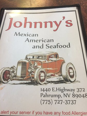 Pahrump, NV: Menu Cover