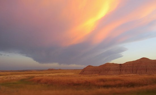 Interior, Dakota del Sur: Amazing sunsetting in the Badlands