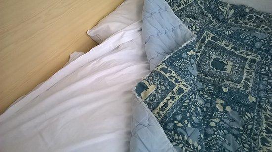 Hotel De Koopermoolen: Под таким потрепанным одеялом без пододеяльника пришлось спать