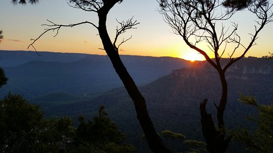 Leura, Australien: Great lookout unspoiled by crowds