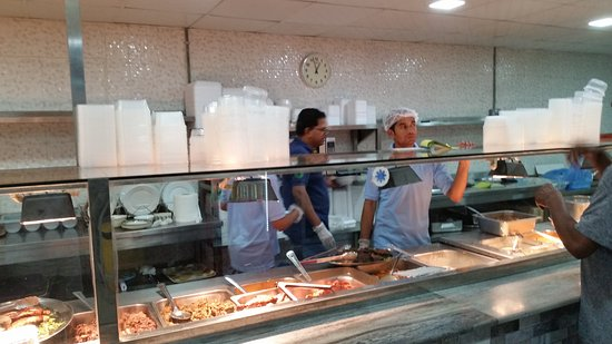 Seeb, Oman: The Serving counter