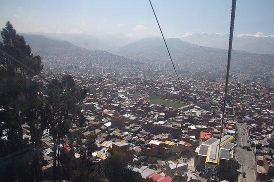 Presidente Hotel: Veduta di La Paz dalla funicolare