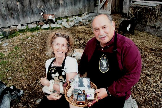 Port Hope, Kanada: Shain & Debbie and some of our baby goats