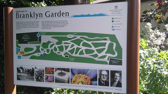 Perth, UK: map of garden