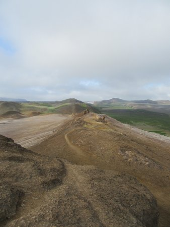 Lake Myvatn, Islandia: this is the ridge trail..nice but fairly strenuous