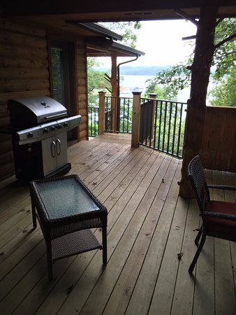 Lake Shore Cabins on Beaver Lake: View of the lake from Master deck area