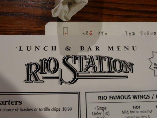 Rio Grande, NJ: Very easy to read menu.
