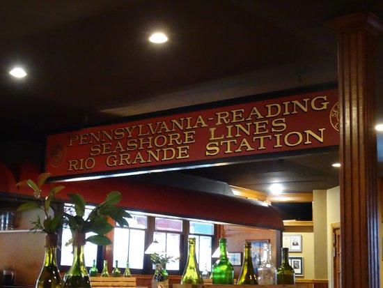 Rio Grande, NJ: Great railroad sign !