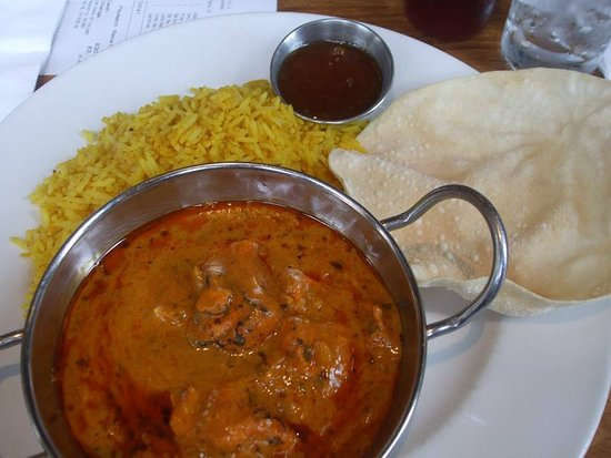 Salford, UK: Chicken tikka curry