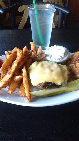 One Trick Pony: One Trick Olive Burger. (Minus lettuce & tomato)