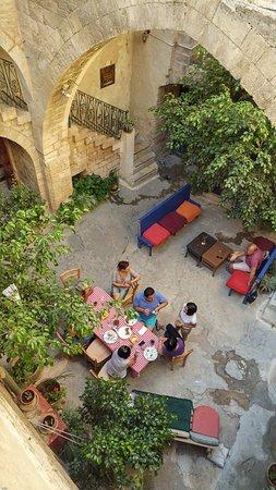 The Fauzi Azar Inn: The main area between the buldings