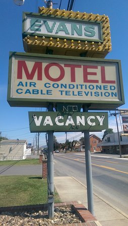 Moorefield, Virginia Occidentale: Welcome to Evans' Motel