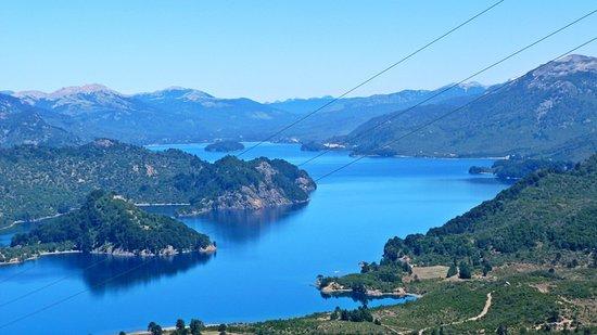 Villa Pehuenia, Argentina: Mirador de las antenas - Lago Moquehue
