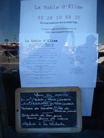 Menu Et Carte Picture Of La Table D Elise Noirmoutier En L Ile